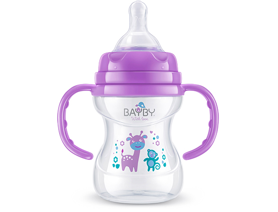 BFB 6105 Wide neck PP feeding bottle<br />with handle 150ml 6m+