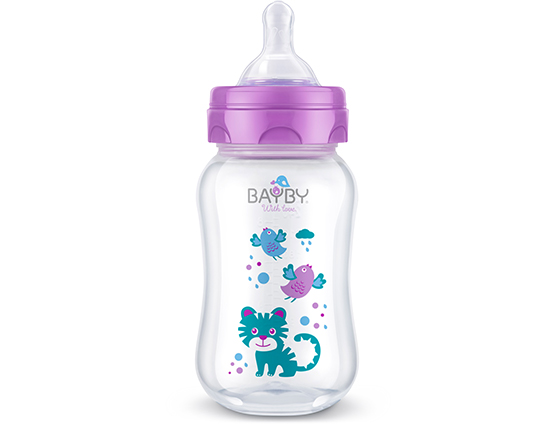 BFB 6103 Wide neck PP feeding bottle<br />250ml 0m+