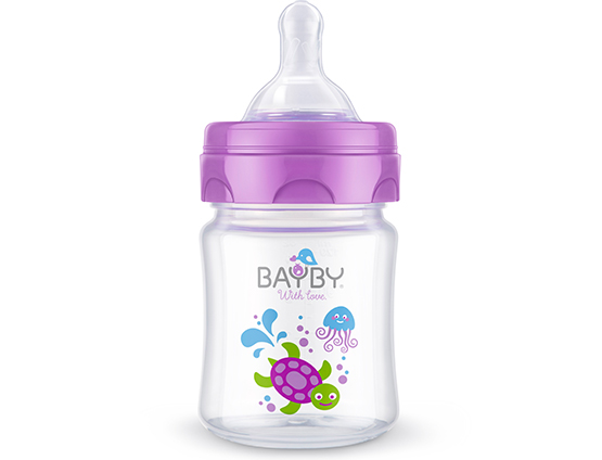 BFB 6100 Wide neck PP feeding bottle<br />120ml 0m+