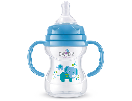 BFB 6104 Wide neck PP feeding bottle<br />with handle 150ml 6m+
